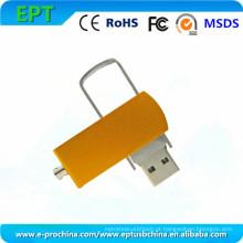 Personalizado logotipo giratório memória flash drive de memória flash USB para promoção (ed031)