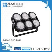 Lumière d'inondation de haut mât LED de lumière de stade de sports de tennis de terrain de sport de 560W LED LED