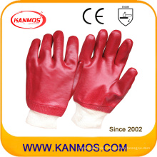 Ölbeständige PVC getauchte Arbeitsschutzhandschuhe (51201)