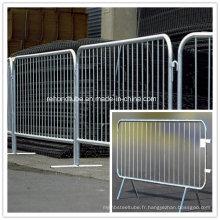 Panneau de clôture galvanisé à barrière de contrôle de foule