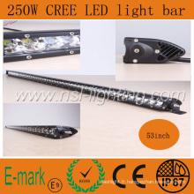 53 pouces Nouvel Article 250W CREE LED Light Bar, Spot Flood Combo 5W X 25PCS Auto Voiture Camion 4X4 Jeep Offroad Conduite Brouillard Tête Lampe De Travail NSL-25050m-250W IP67 CE RoHS