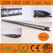 53inch New Item 250W CREE LED Light Bar, Spot Flood Combo 5W X 25PCS Auto Car Truck 4X4 Jeep Offroad Driving Fog Head Working Lamp NSL-25050m-250W IP67 CE RoHS