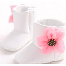 newborn infant baby girl suede leather antiskid white boots shoes