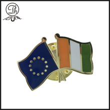 Gold Enamel Flag Lapel pin