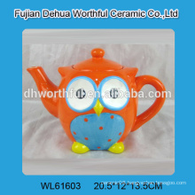 2016 new style colorful owl shaped ceramic teapots