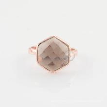 Ручной работы дымчатый кварц 925 серебряное кольцо по оптовой цене