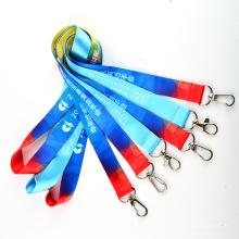 Sublimação da tintura da Multi-Cor do poliéster da promoção / correia feita sob encomenda do logotipo da transferência térmica para presentes