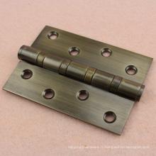 Vente chaude 4''x3''x3mm sus304 charnière de porte en acier inoxydable en bois avec roulement à billes