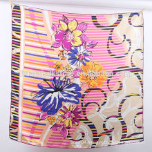 12 mm Silk Twill Hand Printed Wholesale Scarf In China