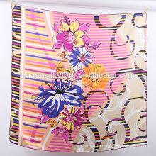 12 мм Silk Twill ручной печатный оптовый шарф в Китае