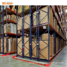 warehouse storage steel double-deep palleting rack