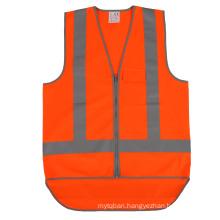 High Visibility  Orange Reflective Safety Vest Reflective Apparel Factory