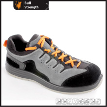 Suede Leather Low Cut Protective Shoe with PU/PU Outsole (SN5447)