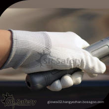 SRSafety 13 gauge nylon Liner coated PU gloves/pu coating working glove