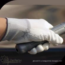 SRSafety 13 нейлоновый нейлоновый лайнер с покрытием PU перчатки / pu покрытие рабочая перчатка
