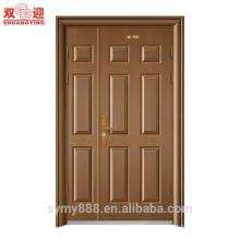 Los proveedores de China morden diseñan la puerta de entrada principal de acero beige noble clásica noble del chalet