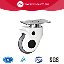 Plate Swivel PU Medical Caster Wheel