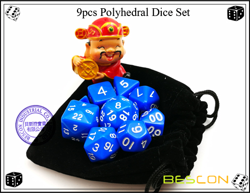 9pcs Polyhedral Dice Set-16