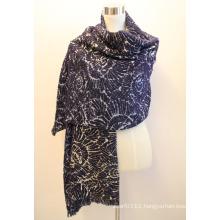 Lady Fashion Viscose Woven Jacquard Fringed Shawl (YKY4406)