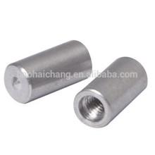 OEM Нержавеющая сталь aisi304 М4 резьба CNC Повернутые приварить гайку