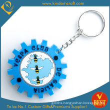 China Customized Die Casting PVC Key Chain in Special Design with High Quality