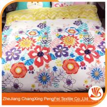 Folha de cama de design de flores coloridas com preço de fábrica