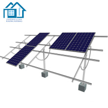 Adjustable aluminum ground style rotating solar panel mounting stand