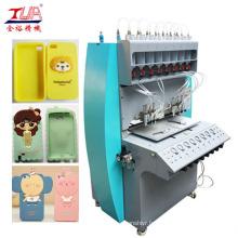 Machine de distribution de couverture de téléphone de silicone d'opération facile