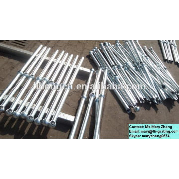 Hot dip galvanized industrial steel stanchions