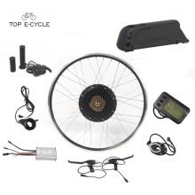Diversión DIY Europa 28 pulgadas eléctrico rueda delantera kit de convección de la bicicleta con batería
