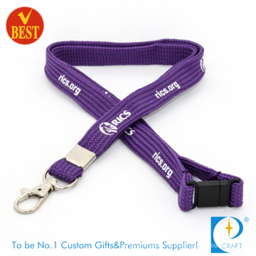 Wholesale Customized Logo Tubular Screen Printed Lanyard in High Quality From China