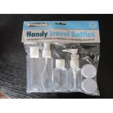 Kit de la botella del recorrido 6PCS, pulverizador de la niebla / loción finos / botella superior del casquillo del disco, tarro