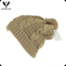 Winter Warm Cable Knit Bobble Ski Hat