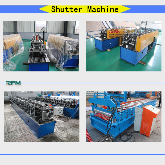 PU shutter door cold roll forming machine