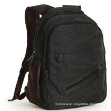 A mochila de moda mochila preta (hx-q027)