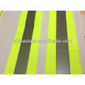fluorescent reflective webbing tape for garment