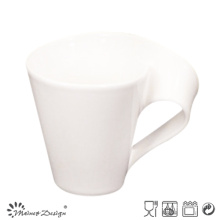 Mug en porcelaine de 11 oz avec poignée façonnée