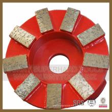 Placa de disco de pulido de diamante segmentado para hormigón de piedra