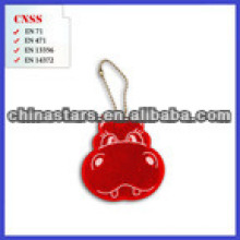 customized logo Reflective key chain with PVC