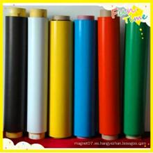 Papel de liberación de superficie Rollo de plástico de goma flexible colorido de PVC