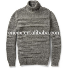 moda homens inverno quente suéter de gola alta