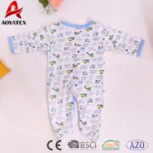 100% algodón al por mayor de manga larga unisex bebés niños pequeños ropa de bebé mamelucos