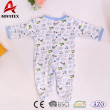 100% algodão por atacado manga comprida unisex crianças roupas macacão de bebê