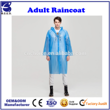 Portable Adult Rain Poncho, Opret Reusable Raincoat with Hoods and Sleeves, Lightweight and Perfect for Outdoor Activity