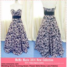 Chiffon, flor preta com Sweetheart, Long Length, Evening Gown Patterns, vestido de mãe, BYE-14062