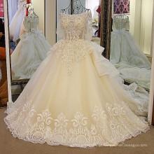 LS01178 fora camadas de ombro tafetá saia vestido de bola vestido de casamento preço boho mulheres casamento