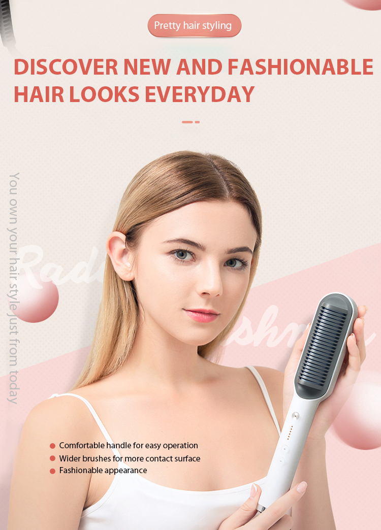 hair straightener brush cheap