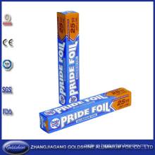 Uso del tipo de rollo de papel de envoltura para alimentos de papel de aluminio