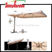 Paraguas comercial romano al aire libre