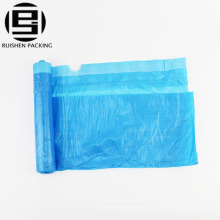 Foldable polyester garbage bags with string handle